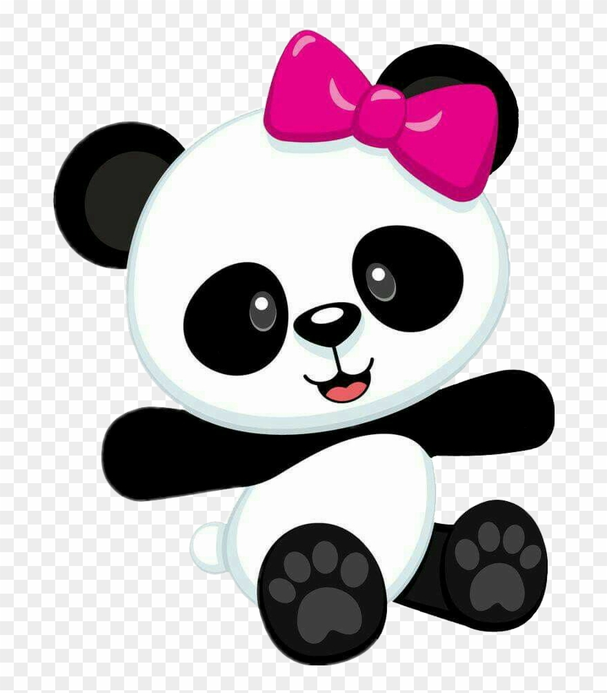 Baby panda clipart clipart black and white stock Report Abuse - Panda Baby Girl Clipart (#1605152) - PinClipart clipart black and white stock