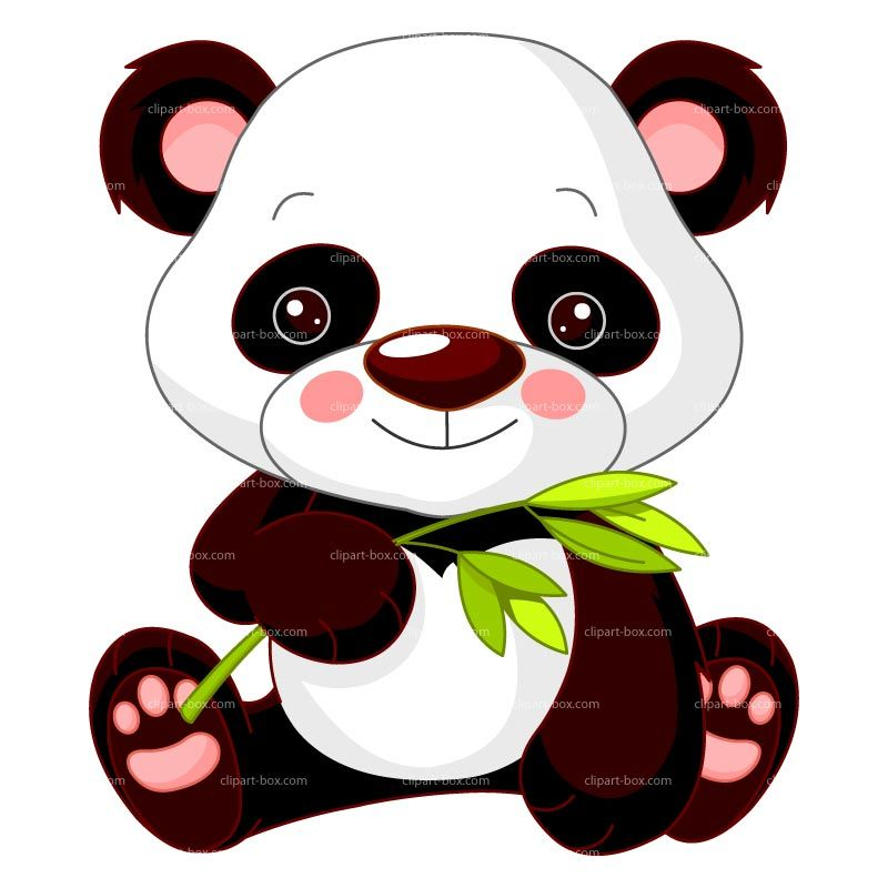 Baby panda clipart clipart freeuse stock CLIPART BABY PANDA WITH BAMBOO | Royalty free vector design ... clipart freeuse stock