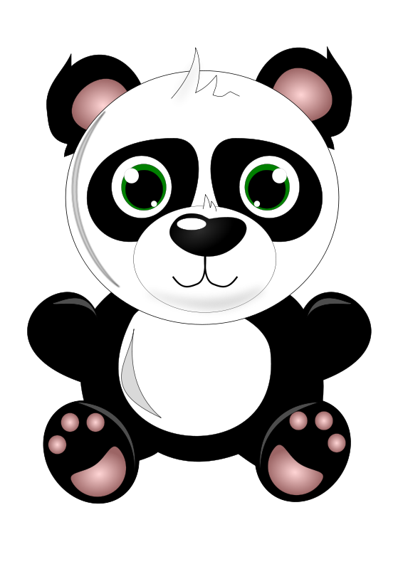 Baby panda clipart graphic transparent library Free Clipart: Baby panda | katja_zupancic graphic transparent library