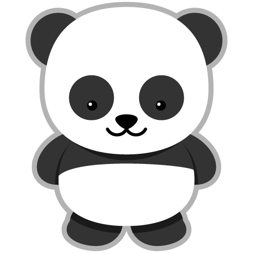 Panda clipart cute graphic black and white library Free Baby Panda Cliparts, Download Free Clip Art, Free Clip Art on ... graphic black and white library