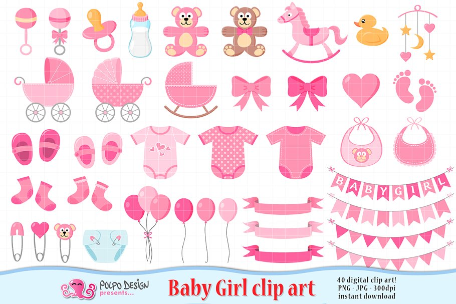 Baby pictures clipart girl vector free Baby Girl clipart vector free