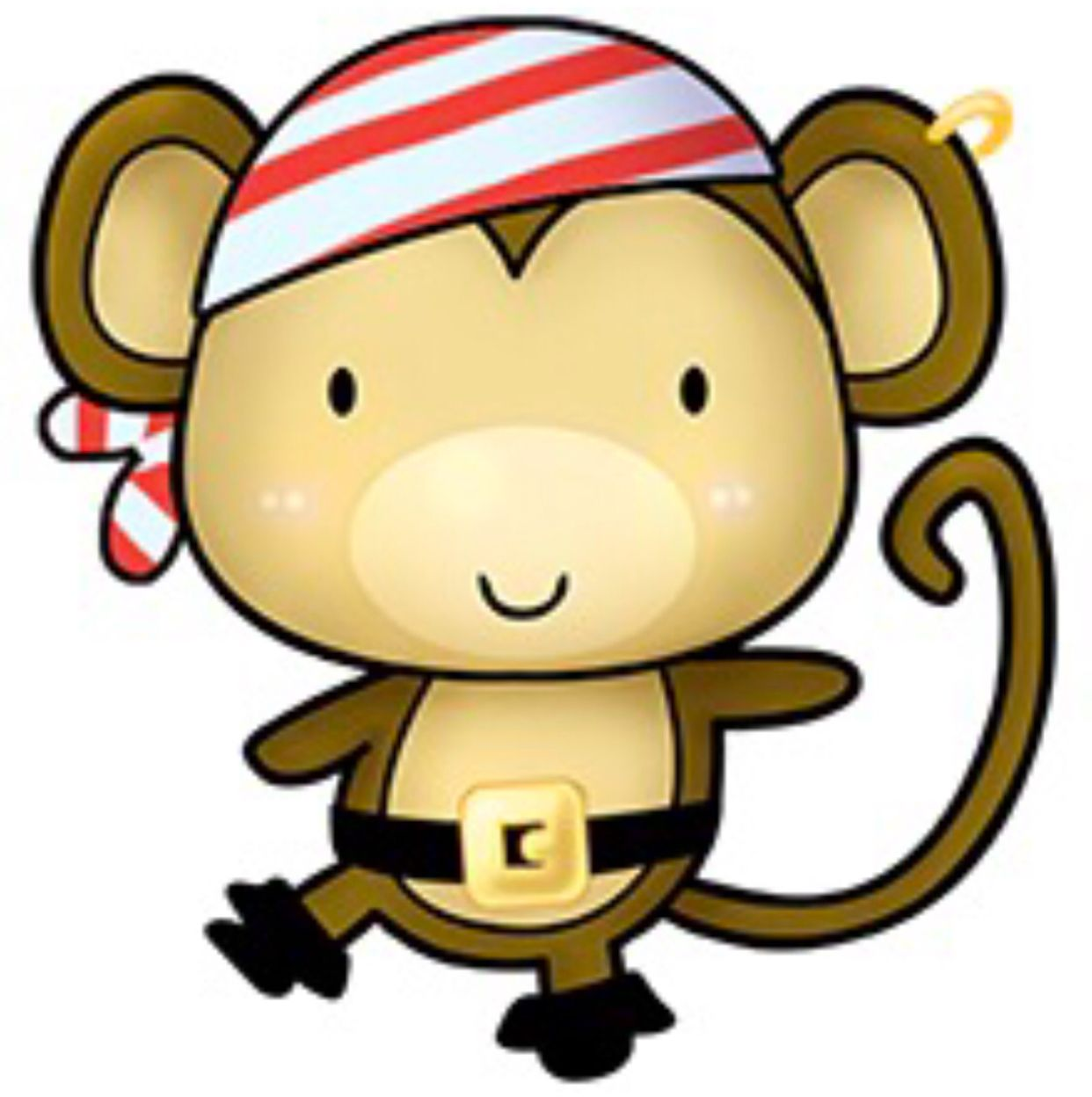 Baby pirate clipart clip free stock Pirate Monkey | clipart | Monkey pictures, Cute cartoon animals ... clip free stock