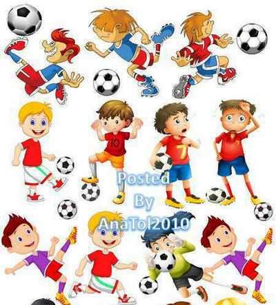 Baby playing football clipart jpg free library Clipart png Children playing football - download jpg free library