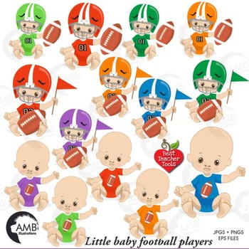 Baby playing football clipart svg royalty free stock Baby Boy Clipart, Nursery Clipart, Football Clipart, Sports Clip Art,  AMB-2428 svg royalty free stock