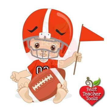 Baby playing football clipart clip library stock Baby Boy Clipart, Nursery Clipart, Football Clipart, Sports Clip Art ... clip library stock