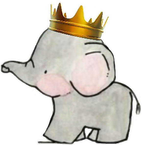 Baby with crown clipart jpg freeuse elephant baby babyelephant crown prince... jpg freeuse