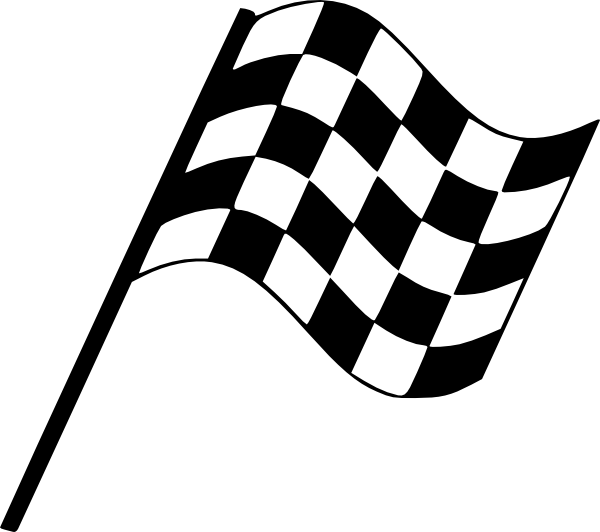 Car wax clipart jpg black and white stock Racing Flag Flowing Rght clip art - vector clip art online, royalty ... jpg black and white stock