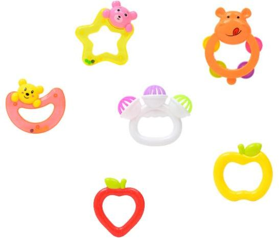 Baby rattle and teether clipart svg transparent 6 pcs Baby Rattles Teether Toys, Infant Shaking Bell Rattle Set Musical Toy  Set for 0, 3, 6, 9, 12 Month Old and Newborn Baby, Candy Colors svg transparent