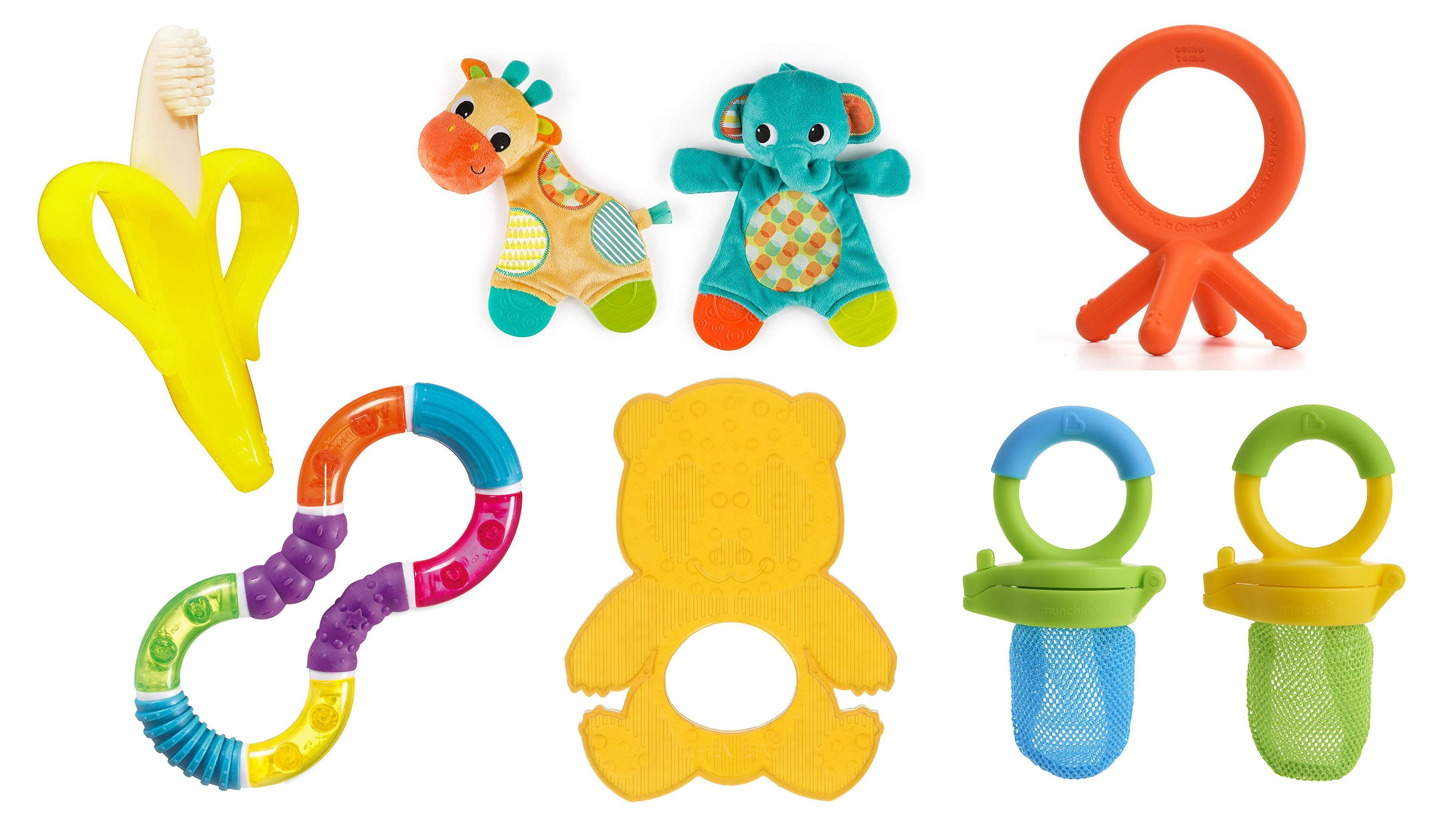 Baby rattle and teether clipart clipart black and white library Top 20 Best Baby Teething Toys | Heavy.com clipart black and white library