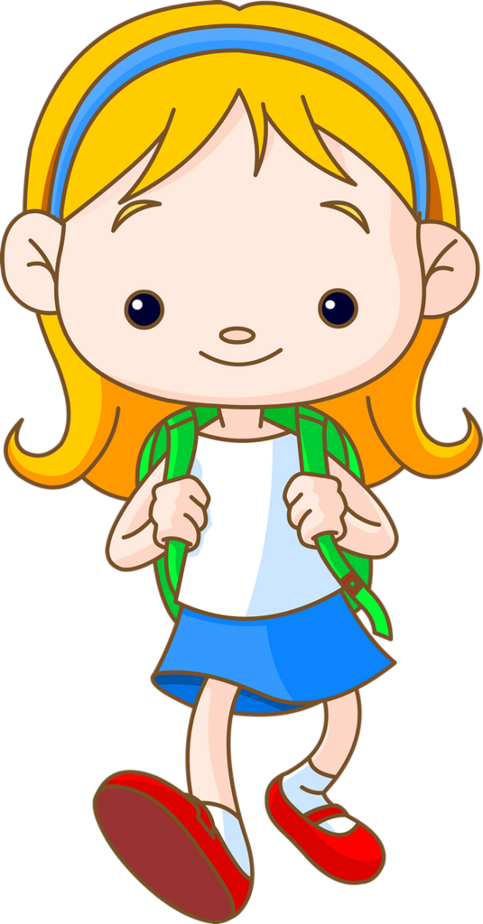 Girl getting ready for school clipart svg stock School Children 135.png | Pinterest | Clip art, Cartoon kids and School svg stock