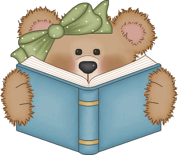 Girl holding reading book clipart clip art freeuse library Vintage Bear Clip Art | Bear reading a book | ~~Cute Clip-Art ... clip art freeuse library