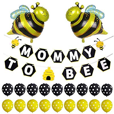 Baby reveal bumble bee clipart png download Simla Decor Mommy to Bee Banner Bumble Bee Baby Shower Gender Reveal Party  Decorations png download