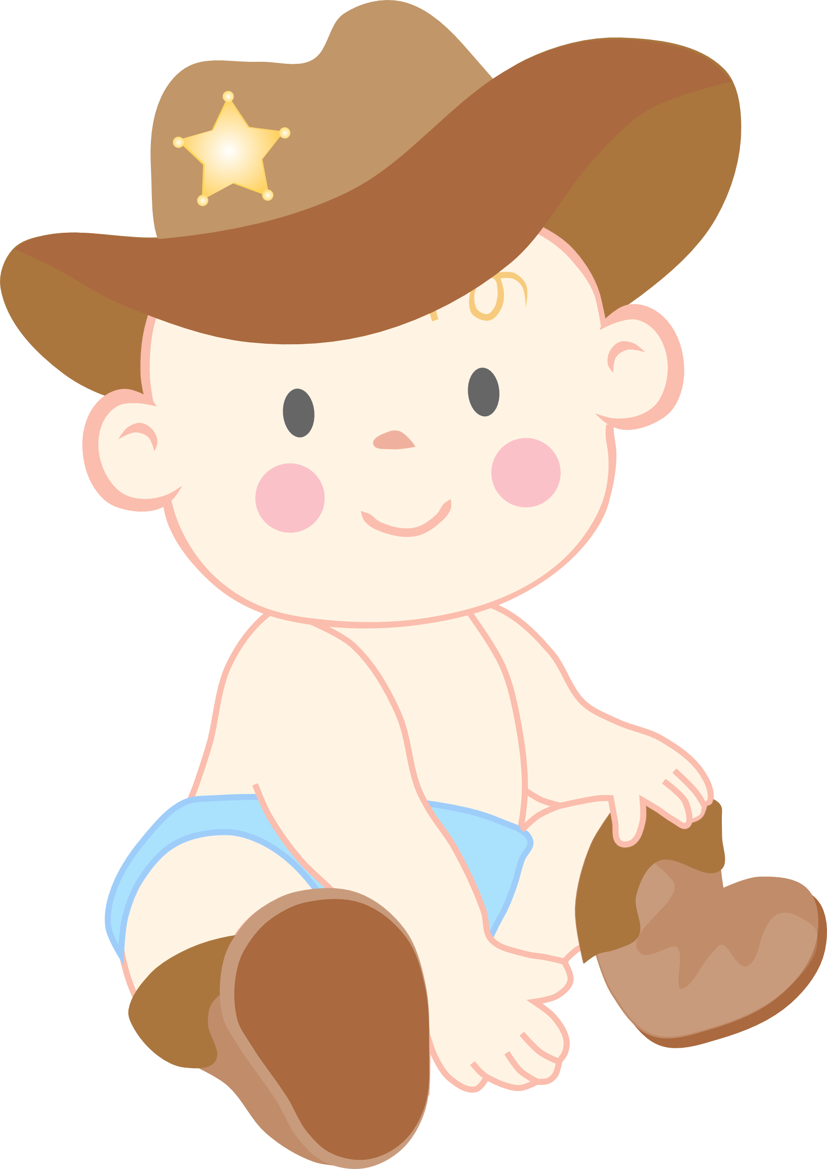 Cartoon cowgirl hat lawn mower clipart free