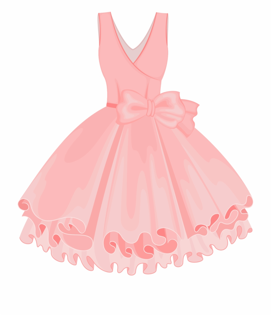 Vestidos clipart svg transparent Pink Painted Dress Vector Skirt Tutu Clipart - Vector Vestidos Color ... svg transparent