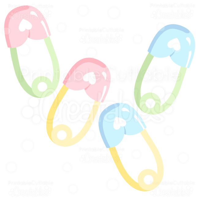 Baby safety pin clipart png freeuse library Sweet Baby Safety Pins SVG Cuts & Clipart png freeuse library