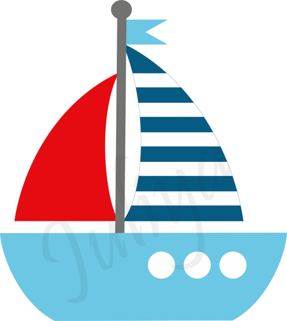 Baby sailboat clipart svg royalty free library Nautical clipart / Nautical Kids sailor clipart / Red White Blue ... svg royalty free library