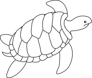 Baby sea turtle clipart black and white png freeuse Turtle Clipart Image - Black and white drawing of a sea turtle ... png freeuse