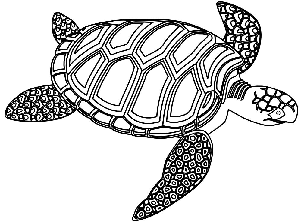 Baby sea turtle clipart black and white svg royalty free download Free Sea Turtle Clipart, Download Free Clip Art, Free Clip Art on ... svg royalty free download
