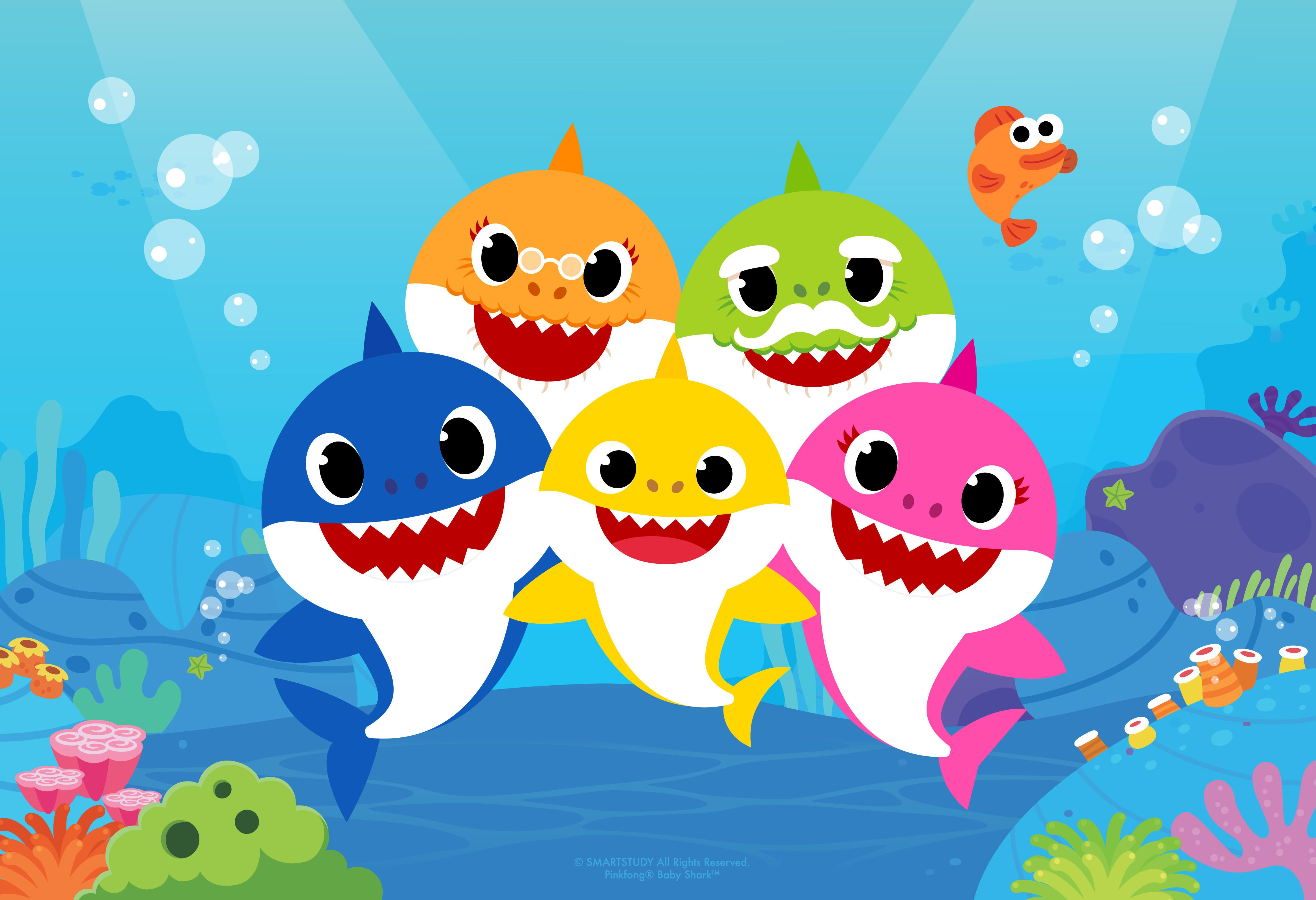 Baby shark pinkfong family clipart png black and white Baby Shark has a TV show now and we\'re all doomed - CNET png black and white