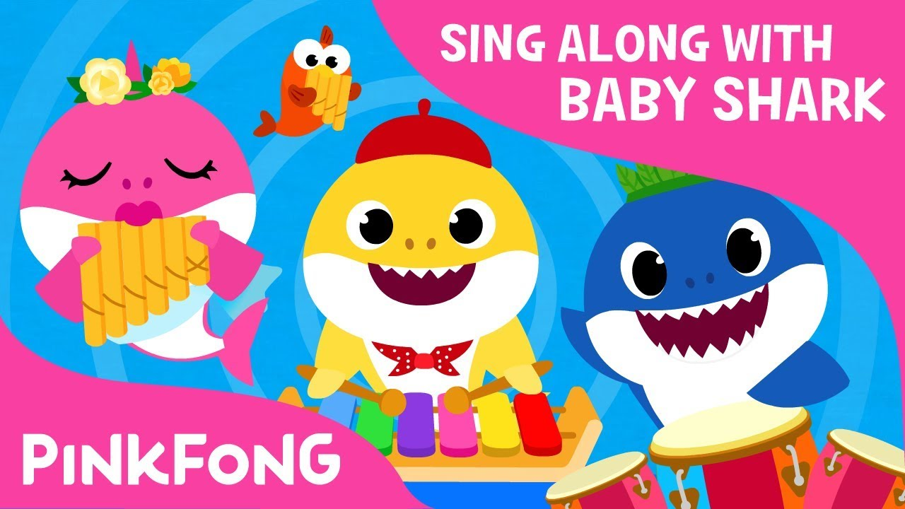 Baby shark pinkfong family clipart banner freeuse download The Shark Band   Sing Along with Baby Shark   Pinkfong Songs for Children banner freeuse download