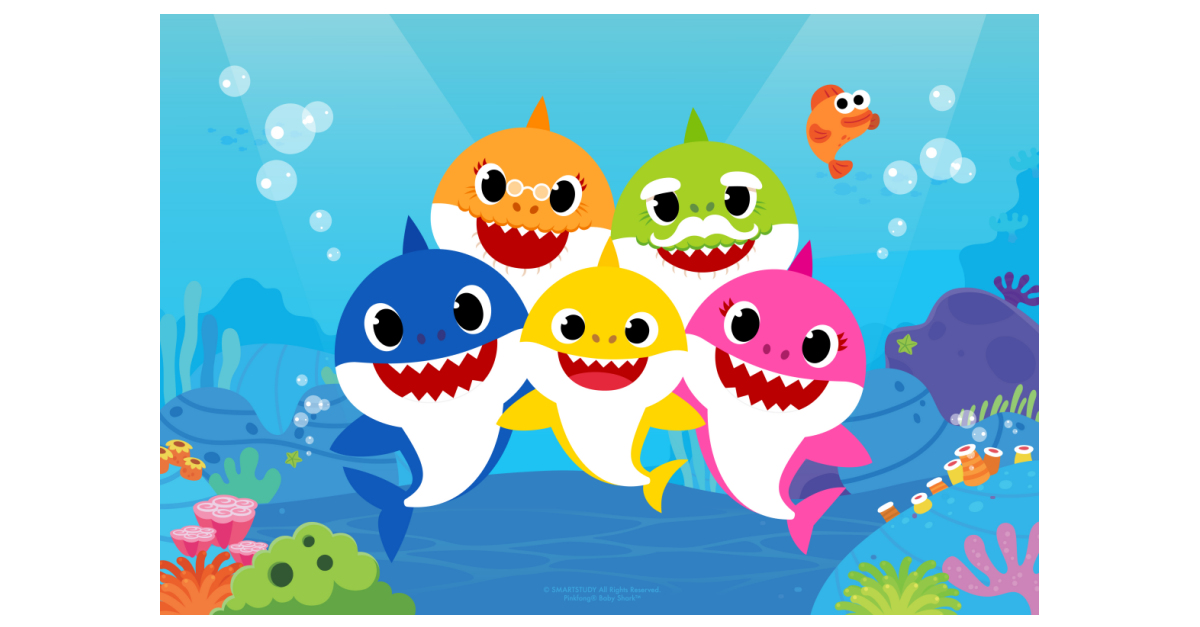 Baby shark pinkfong family clipart image transparent stock Pinkfong\'s Baby Shark Joins the Nickelodeon Family   Business Wire image transparent stock