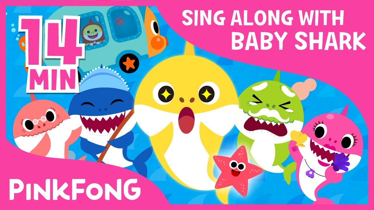 Baby shark pinkfong family clipart png freeuse stock The Shark Family and more   Sing along with baby shark   Pinkfong Songs for  Children png freeuse stock