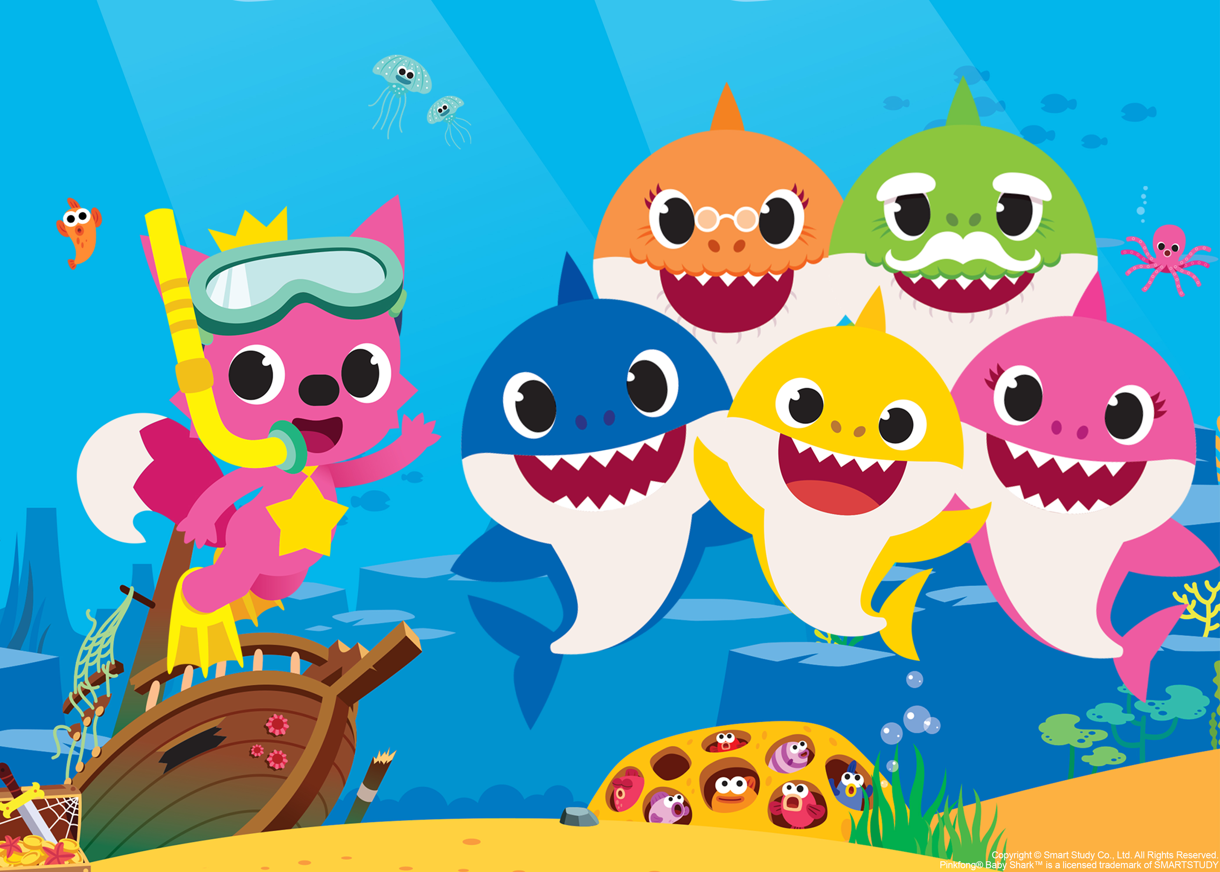 Baby shark pinkfong family clipart svg royalty free library Baby Shark\' Is Going on Tour in North America   PEOPLE.com svg royalty free library