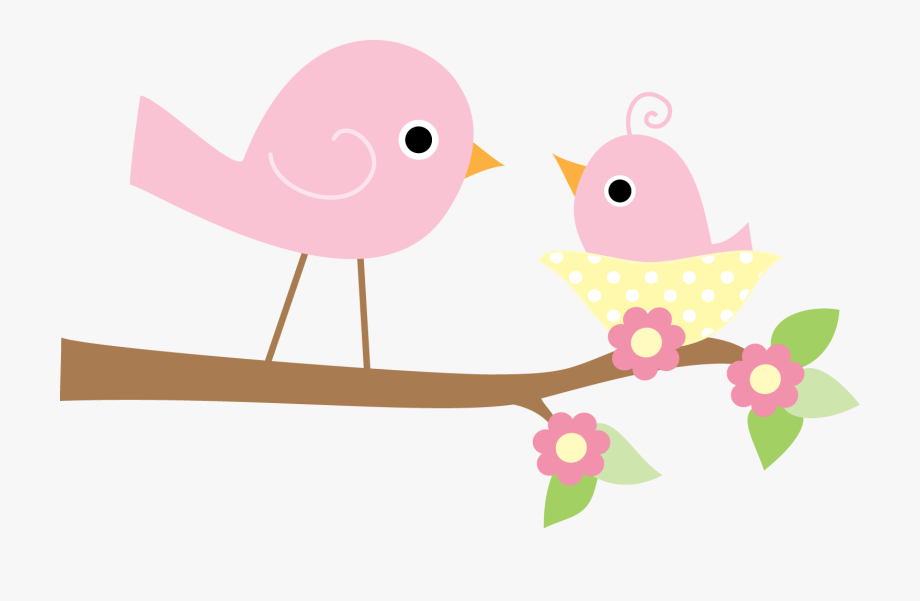Mom and baby bird clipart black and white png free Shower Clipart Bird - Mother And Baby Bird Clipart #110609 - Free ... png free