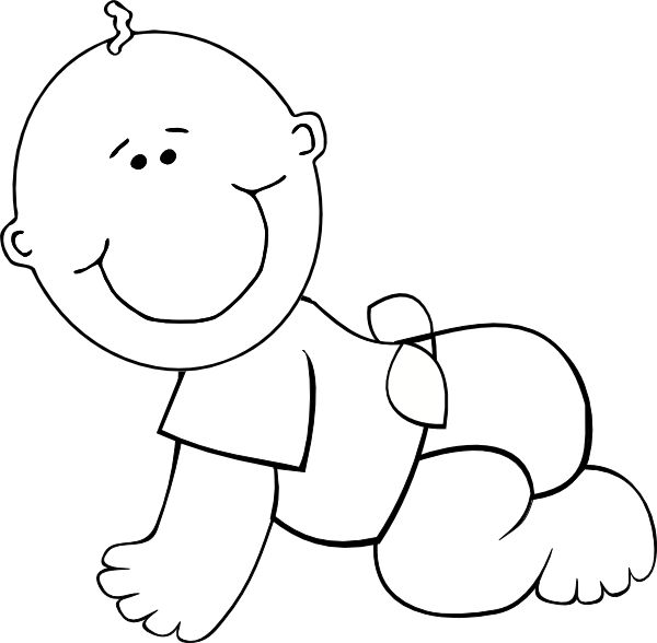Baby shower black and white clipart free jpg library stock Baby Shower Black And White Clipart Sketch 1169 - Clipart1001 - Free ... jpg library stock