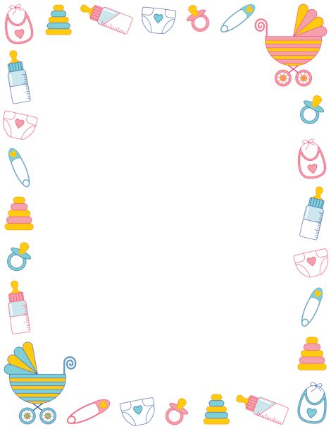 Baby shower borders clip art clip freeuse library Printable baby shower border. Free GIF, JPG, PDF, and PNG ... clip freeuse library