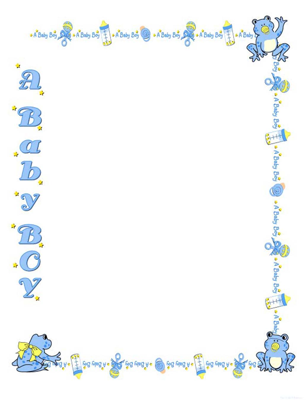 Baby shower borders clip art royalty free Free Baby Shower Border Templates - Cliparts.co royalty free