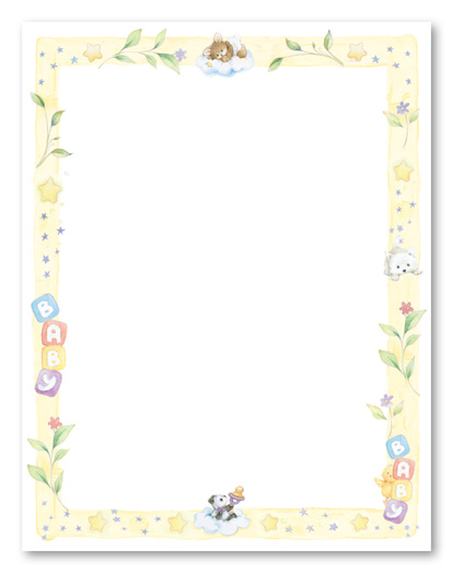 Baby shower borders clip art graphic library download Free baby shower clipart borders - ClipartFest graphic library download