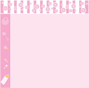 Baby shower borders clip art jpg library stock Baby Girl Borders Clipart - Clipart Kid jpg library stock