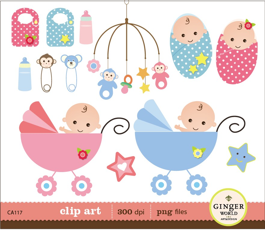 Baby shower clip art clipart. Images clipartall com about