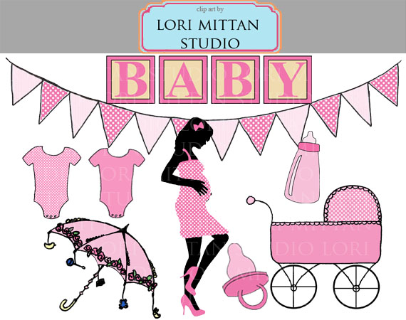 Baby shower clip art clipart vector black and white download Girl Baby Shower Images | Free Download Clip Art | Free Clip Art ... vector black and white download