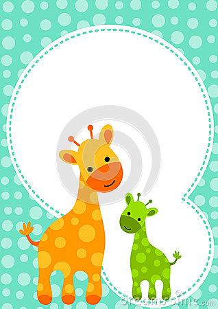 Baby shower giraffe clip art black and white library Giraffe clipart baby shower - ClipartFest black and white library