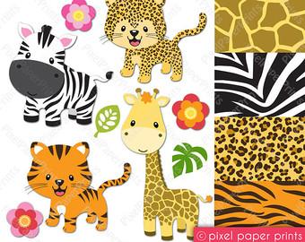 Baby shower giraffe clip art vector stock Giraffe clipart | Etsy vector stock