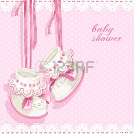 stock illustrations cliparts. Baby shower girl clip art