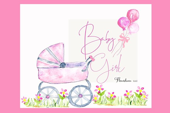 Baby shower images girl clipart image free Girl Baby Shower Clipart | Pink Baby image free