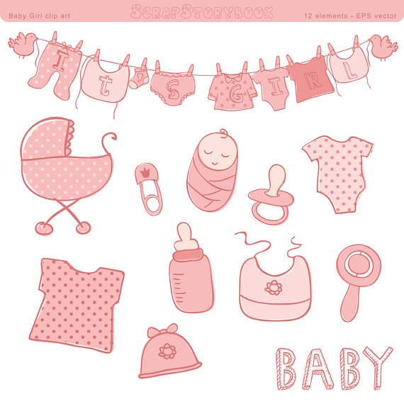 Baby shower images girl clipart clipart library library Baby shower girl clipart 5 » Clipart Portal clipart library library