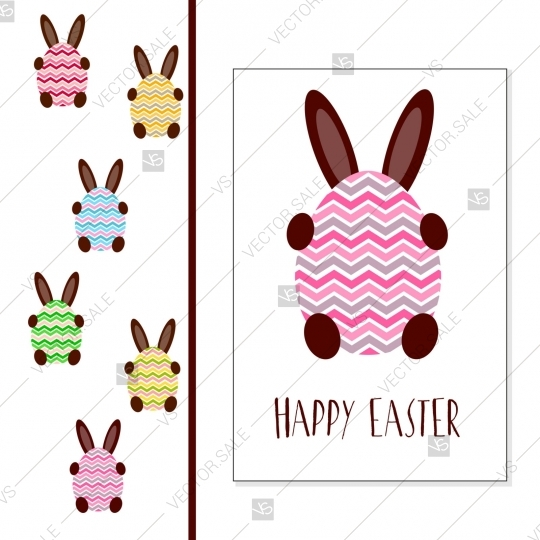 Happy Easter Vector Card Egg Rabbit clipart baby shower invitation jpg library
