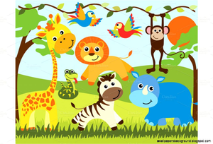Baby shower jungle theme clipart png black and white library Jungle Theme Baby Shower Clipart | Free Images at Clker.com - vector ... png black and white library