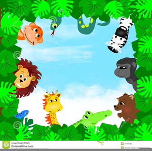 Baby shower jungle theme clipart png transparent download Jungle Theme Baby Shower Clipart | Free Images at Clker.com - vector ... png transparent download