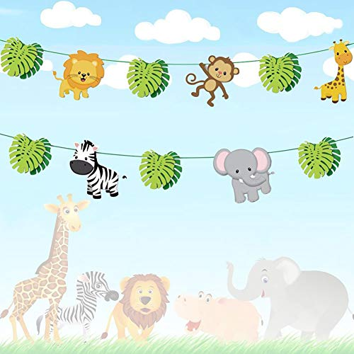 Baby shower jungle theme clipart vector black and white Jungle Baby Shower Decorations: Amazon.com vector black and white