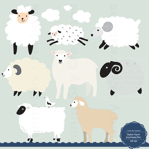 Baby shower lamb clipart png library library Instant Download, Little Lamb, Sheep Clipart, Sheep Clip Art, Baby ... png library library