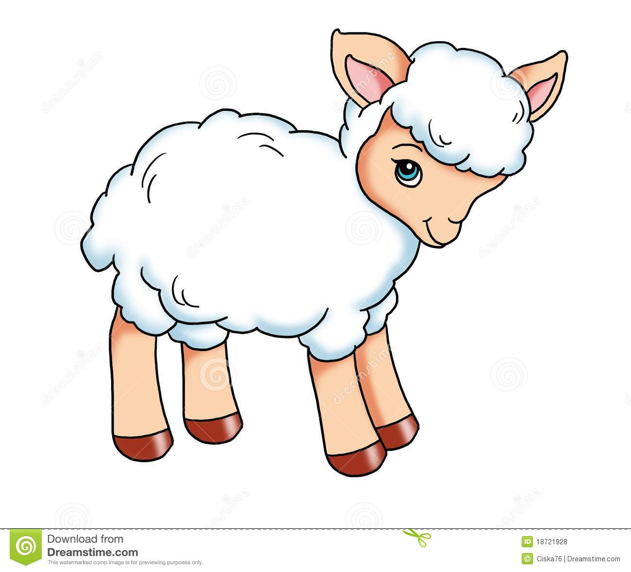 Baby shower lamb clipart
