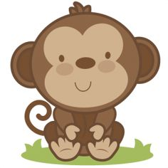 Baby shower monkey clip art. Clipart clipartfest cute free