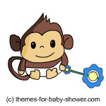 Baby shower monkey clip art vector library library Free Monkey Baby Shower Clip-Art vector library library