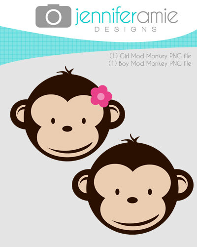 Baby shower monkey clip art vector freeuse Girl Monkey Baby Shower | Clipart Panda - Free Clipart Images vector freeuse