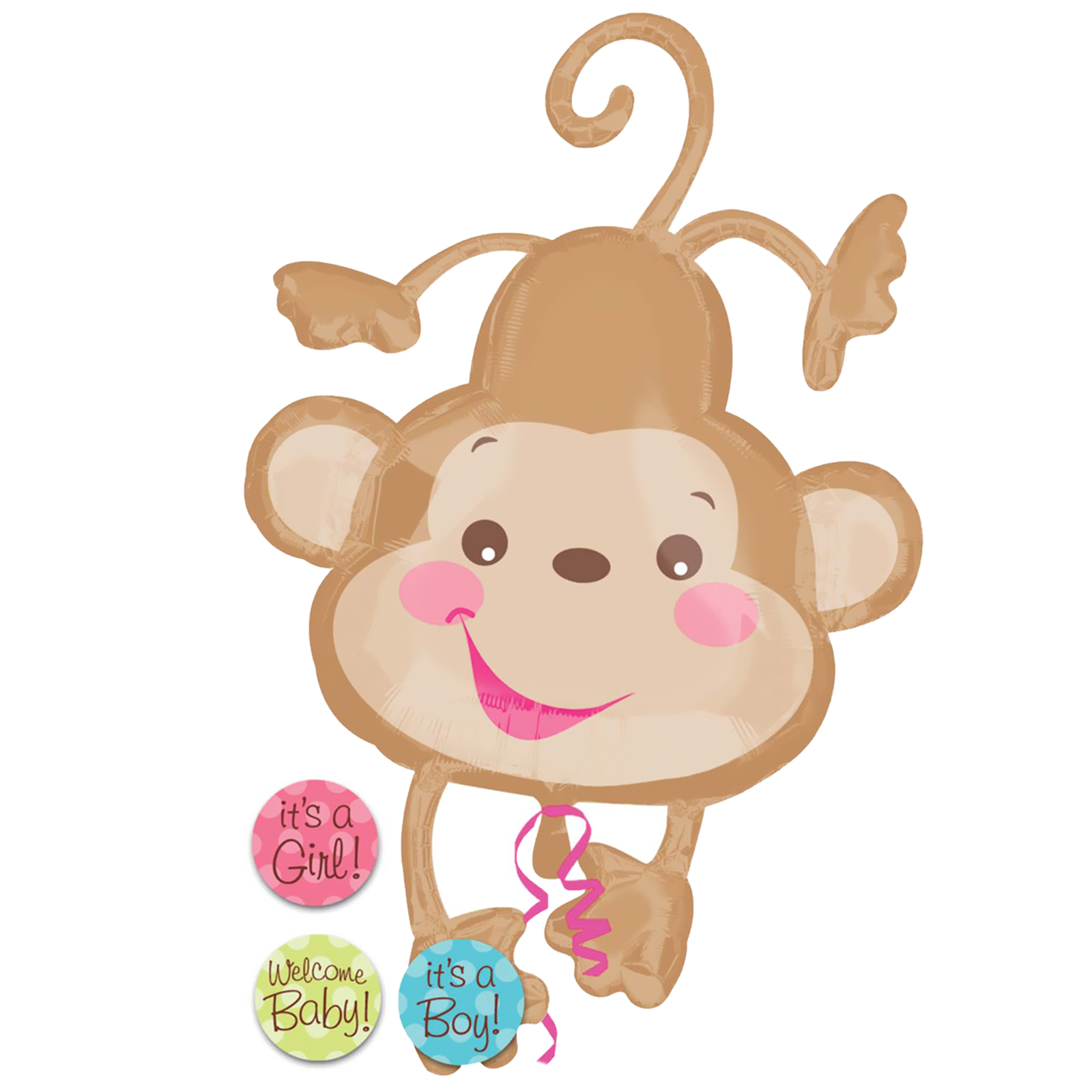 Baby shower monkey clip art. Clipart clipartfest fabric girl
